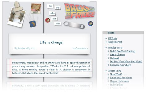 screenshot of version 5 of the web site